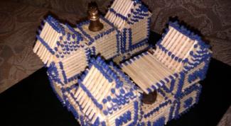 Как построить замки из спичек