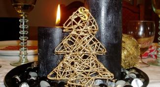 Как сделать черную свечу