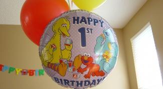 Как провести первый день рождения ребёнка