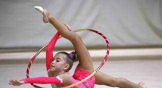 Как обматывать обручи для художественной гимнастики