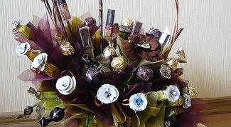 Как составить самому букеты из конфет