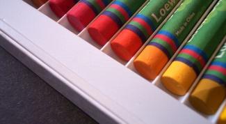 Как рисовать восковыми мелками