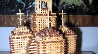 Как построить церковь из спичек