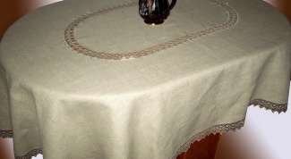 How to sew an oval tablecloth