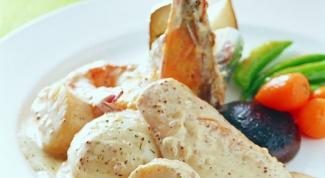 Как приготовить курицу в сливочном соусе