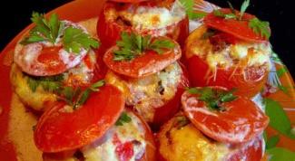 Как приготовить фаршированные помидоры с рисом и зеленью