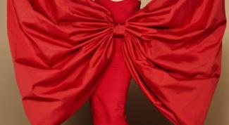 Как сшить бант на платье
