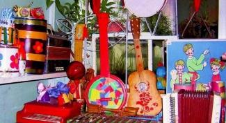 Как оформить музыкальный уголок