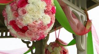 Как сделать шарик из роз