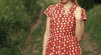 How to sew a dress in polka dots