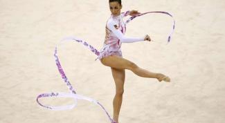 Как сделать гимнастическую ленту
