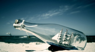 How to put a ship in a bottle