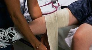 Как снять опухоль колена