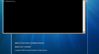 How to install Windows from the command line