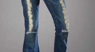 Как посадить джинсы