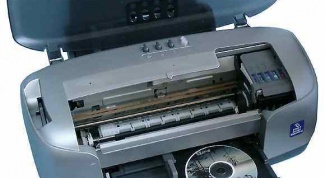 How to print the printer on the disk