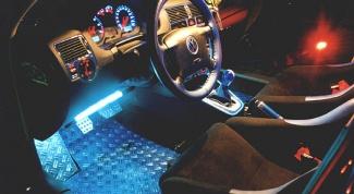 Как установить подсветку в авто