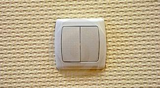 Как подсоединить двойной выключатель