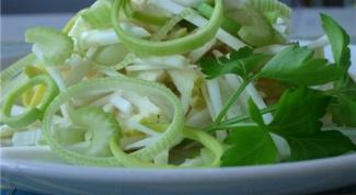 Как сделать салат из сельдерея