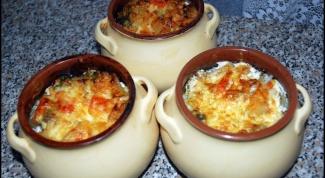Как приготовить грибы с картошкой в горшочках