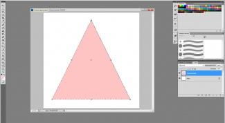 Как нарисовать в фотошопе треугольник