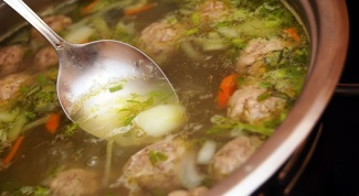 Как сварить суп с фрикадельками