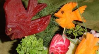Как делать украшения для салатов