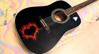 Как разрисовать гитару