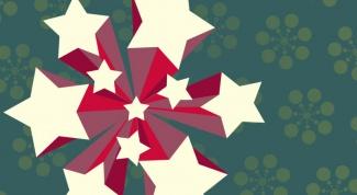 Как начертить звезду циркулем
