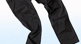How to dye black pants
