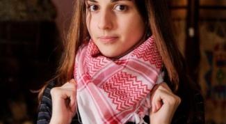 Как завязывать шарф арафатку