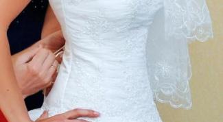 Как зашнуровать свадебное платье
