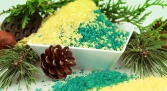 How to make a coniferous-salt bath