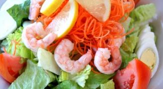 Как готовить салат из морепродуктов