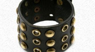 Как сделать кожанный браслет