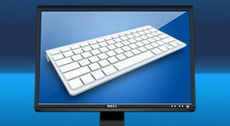 Как вывести клавиатуру на монитор