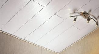 Как из панелей сделать потолок