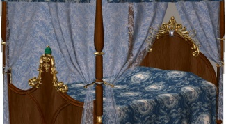 How to tie a four-poster bed