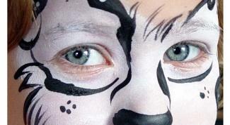 Как нарисовать собаку на лице