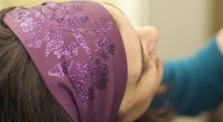 Как надевать повязку  на голову