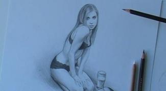Как нарисовать обнажённых девушек карандашом