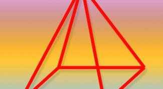 How to find the area of a regular quadrangular pyramid