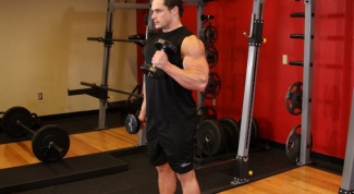 How quickly pump up the biceps dumbbells