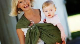 Как носить новорожденного в слинге