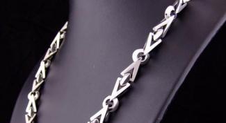Как отбелить серебряную цепочку