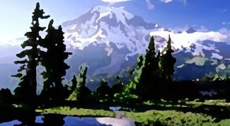 Как нарисовать пейзаж гуашью