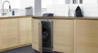 Как встроить стиральную машинку в кухню