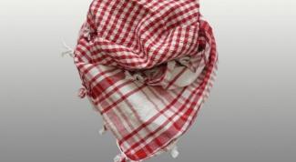 Как завязывать арабский шарф