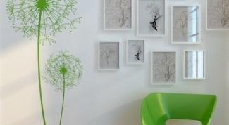 Как нарисовать цветок  на стене