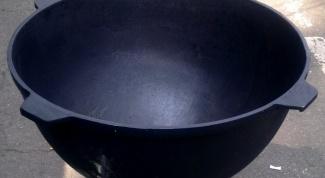 How to wash the cauldron